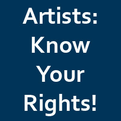 provoke Artists to learn about their rights